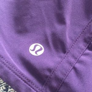 Purple Lululemon tracker shorts